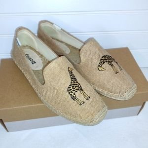 New in Box Soludos Espadrilles with Giraffes!